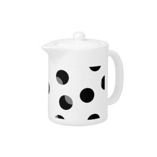 Black, white and gray spotty pattern. teapot