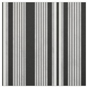 Gray And White Striped Fabric Zazzle