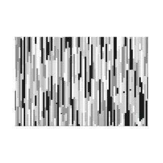 Black, White and Gray Stripes Canvas Print