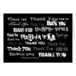 Black White And Gray Thank You Card