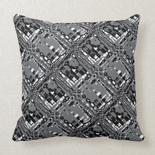 Black White And Gray Throw Pillows : Black White and Gray Throw Pillow Zazzle