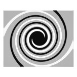 Black, White and Gray Twist Design. Personalized Flyer