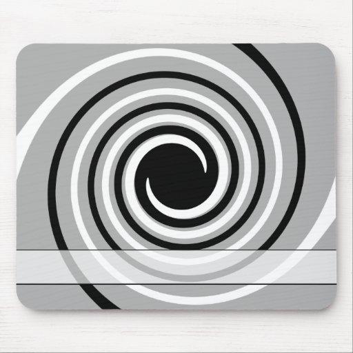 Black, White and Gray Twist Design. Mousepad