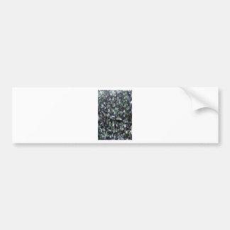 Black White and Green Jungle Splashes Bumper Sticker