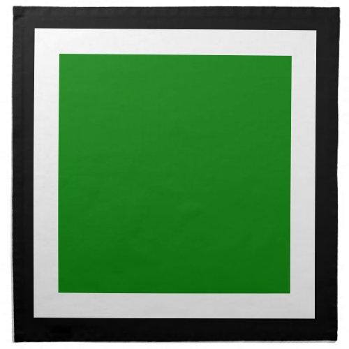 Black White and Green Napkins