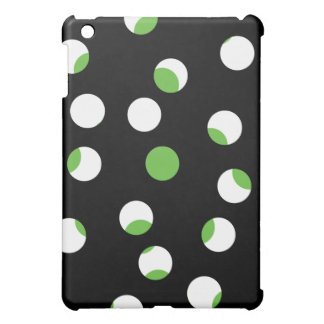 Black, White and Green Spotty Pern. Case For The iPad Mini