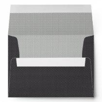 Black White and Grey Carbon Fiber Graphite Envelope