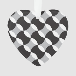 Black, white and grey circles ornament