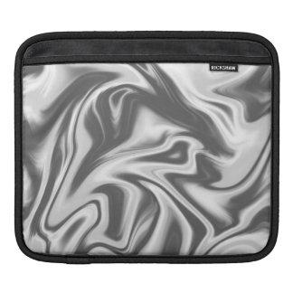 Black, White and Grey Marbled Ipad Sleeve