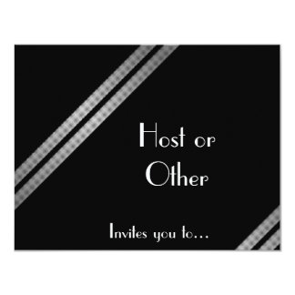 Black white and grey striped formal card