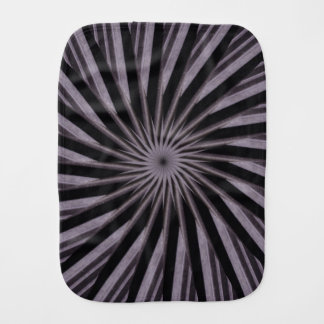 Black white and grey swirly template abstract art burp cloth