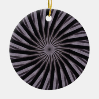 Black white and grey swirly template abstract art ceramic ornament