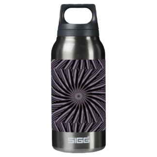 Black white and grey swirly template abstract art insulated water bottle