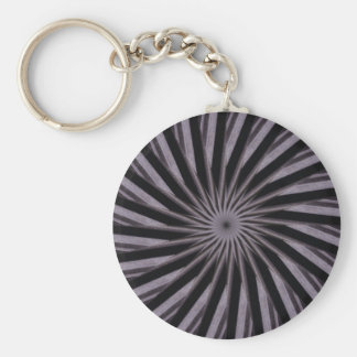 Black white and grey swirly template abstract art keychain