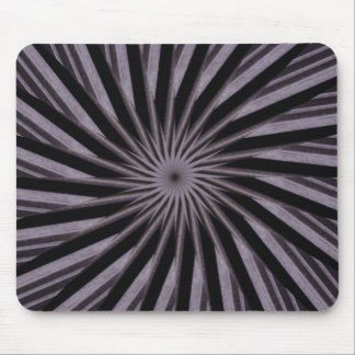 Black white and grey swirly template abstract art mouse pad