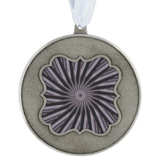 Black white and grey swirly template abstract art pewter ornament