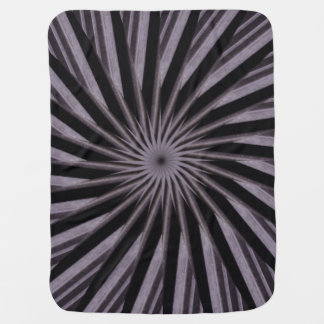 Black white and grey swirly template abstract art receiving blanket