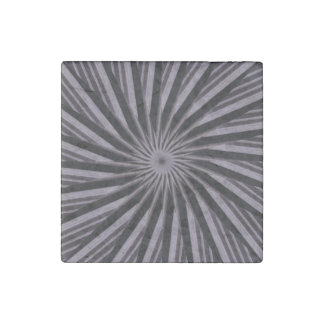 Black white and grey swirly template abstract art stone magnet