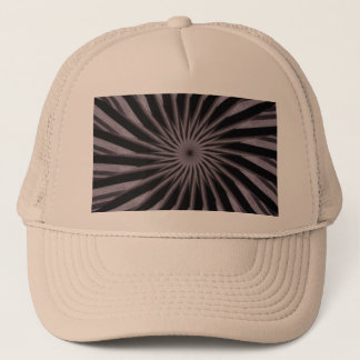 Black white and grey swirly template abstract art trucker hat