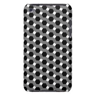 Black, White and Grey Tessellation Pattern Barely There iPod Cover