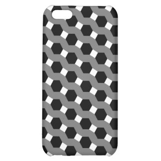 Black White and Grey Tessellation Pattern iPhone 5C Cover