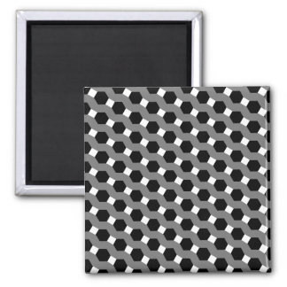 Black, White and Grey Tessellation Pattern Magnet