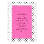 Black, White and Hot Pink Polka Dot Bridal Shower Cards