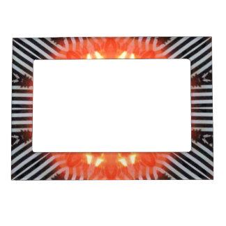 Black White and Orange Abstract Photo Frame