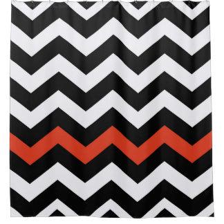 Orange And White Chevron Shower Curtains | Zazzle