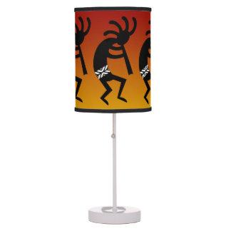 Black White And Orange Kokopelli Southwest Lamps