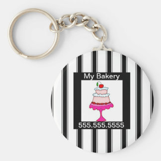 Black,white and pink, Bakery Keychain