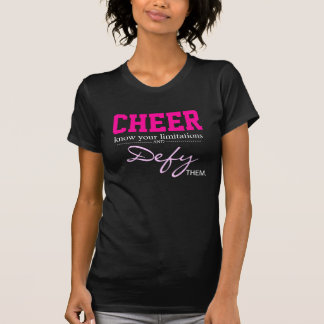 Black white and Pink Inspirational Cheer shirt