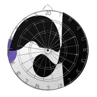 Black, White and Purple Dart Board