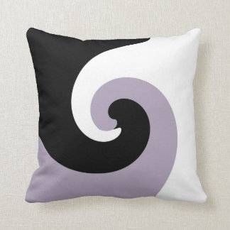 Black, White and Purple Funky Abstract Art 2 Throw Pillow