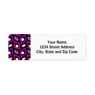 Black White and Purple Modern Circle Pattern Label