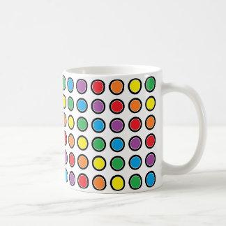 Black, White and Rainbow Polka Dots Mug
