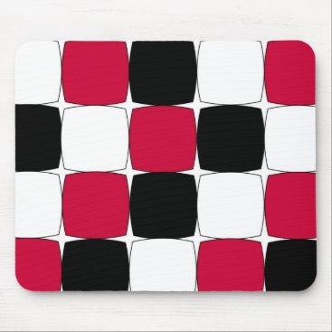 celestesheffey Black, White and Red Fisheye by Celeste Sheffey Mouse Pad