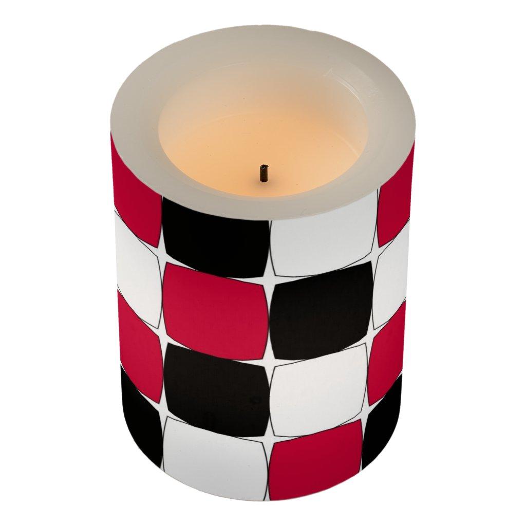 Black, White and Red Fisheye Led candle