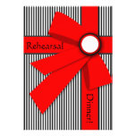 Black White and Red Gift Bow Rehearsal Card
