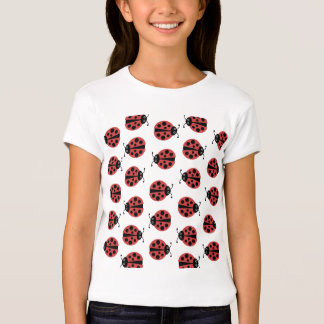 Black, White and Red Ladybug T-Shirt