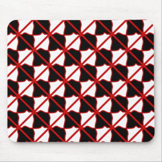 Black White and Red Mousepad