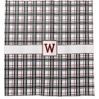 Black And Red Plaid Shower Curtain
