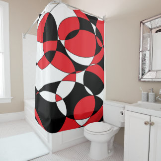 black white red shower curtain. Black  White and Red Shower Curtain Curtains Zazzle