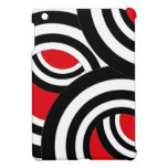 Black, white and red spiral design case for the iPad mini