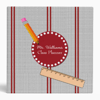 Black, White, and Red Teacher's Class Planner Binder