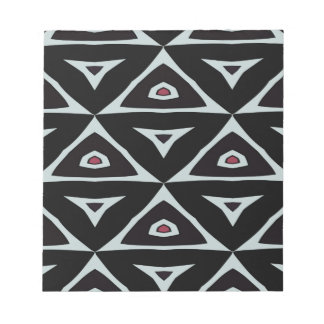 Black, White and Red Triangles Notepad