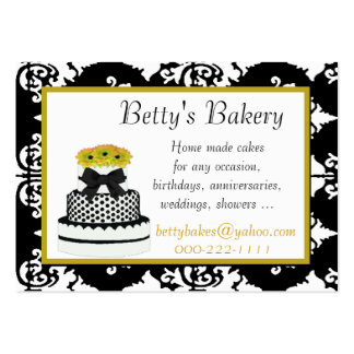 Black, White, and Yellow Bakery Business Card