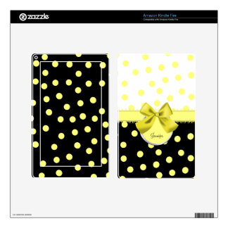 Black, White, and Yellow Kindle Fire Skin