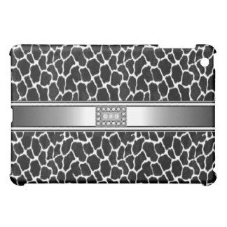 Black White Animal Diamond jewel iPad Mini Cover