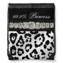 Black & White Animal Print, Diamonds Backpack